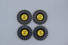 Lego 4 x Technic tecnología rueda neumáticos amarillo 17x43   Yellow Wheel 3482 3634