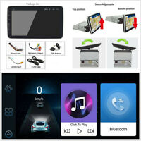 1DIN 9'' Rotatable Android 8.1 Touch Screen Quad Car Stereo Radio GPS Wifi 3G 4G