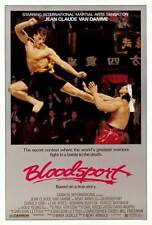 BLOODSPORT Movie MINI Promo POSTER Jean-Claude Van Damme Leah Ayres Roy Chiao