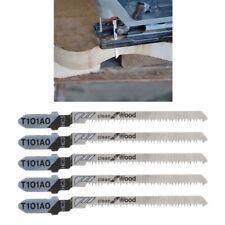 T101AO HCS T-Shank Jigsaw Blades Curve Cutting Tool Kits 5 Pcs For Wood Plastic