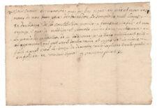 1734 manuscript receipt document handwritten