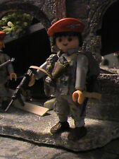 PLAYMOBIL CUSTOM 7TH PARACHUTE REGIMENT(BRITANICO) (SINGAPUR-1945 REF-0075