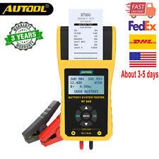 BT660 12V 24V Car Battery Tester Charging System Lead Acid Analyzer With Printer