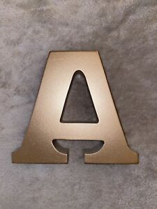 GOOD CONDITION Home Goods Gold Initial A Decor Wooden Letter