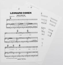 "LEONARD COHEN Signed Autograph ""Avalanche"" Sheet Music"