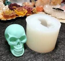 Schädel Totenkopf Skull Kerzenformen Silikonform epoxidform Gießform 65*52mm