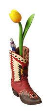 Hucha Soporte para bolígrafos Cowboy BOTAS WESTERN Decoración Contenedor Flores