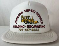 VINTAGE SNAPBACK Mesh JOHNSON SEPTIC SERVICES TRUCKER FARMER