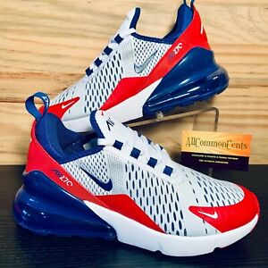 Nike Air Max 270 GS USA Women's Shoes Size 8 Red White Blue Youth 6.5 Olympics