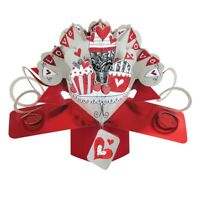 Love Bunting Pop-Up Greeting Card Valentine's Day or Any Occasion 3D Pop Up Card