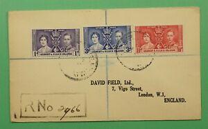 DR WHO 1937 GILBERT & ELLICE ISLANDS FDC? CORONATION C241435