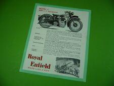 406KA2 Prospekt, leaflet (um 1949) Royal Enfield J. 499 & G. 346 top-ventilet