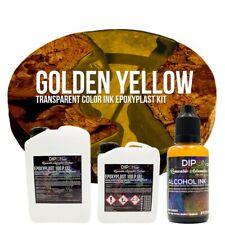 Epoxidharz EpoxyPlast 100P GOLDEN YELLOW Transparent Farbig Gießharz Epoxy Resin