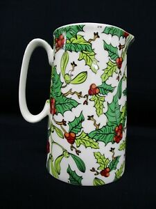Abbeydale Collection Jug, Ceramic, Holly Design, 0.5L or 1Pint Capacity, Milk