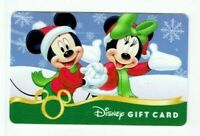 Disney Gift Card Christmas - Mickey & Minnie Holding Hands - No Value -I Combine