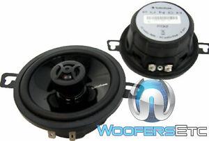 """ROCKFORD FOSGATE P132 3.5"""" 2-WAY PEI DOME TWEETERS COAXIAL CAR SPEAKERS PAIR NEW"""