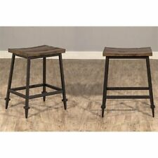 "Hillsdale Trevino 25"" Counter Stool in Distressed Walnut (Set of 2)"
