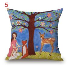 BN night FOREST decorative cushion covers LINEN COTTON