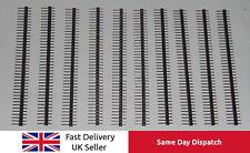 "10 x 40 Pin Header Pins Strip PCB 0.1"" 2.54mm for Arduino, Breadboard, UK Seller"
