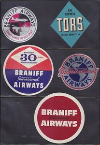 BRANIFF AIRLINES BAGGAGE LABEL COLLECTION AVIATION