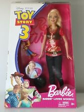 Disney Pixar Toy Story Barbie Doll Loves Woody 2009 Mattel