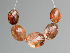 AAA Natural Copper Rutilated Quartz Faceted Oval Gemstone Beads 16085