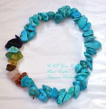 Gemstone Crystal Turquoise Chakra Bracelet Birthstone of Sagittarius Nov Dec