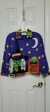 HALLOWEEN SWEATER BY DESIGN OPTIONS WOMEN'S SIZE SMALL EUC