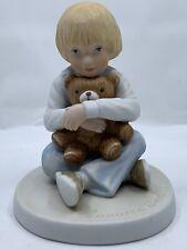 """1980 Frances Hook Roman Porcelain Figurine """"Bear Hug"""" Vintage A Childs World"""