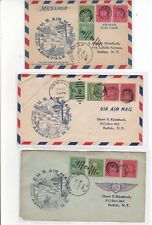 CAM51 Asheville NORTH CAROLINA 1941 First Flight 2 Air Mail Covers + 1 Postcard