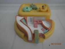 Vintage Polly Pocket 1991 Soap Dish With 3 floats & 1 Polly Bluebird toys Rare