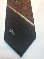 Vintage Allyn St George Mens Tie 3 X 56 Brown With Orange And Tan