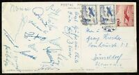 s1674) Fussball-WM 1962 in Chile AK Autogrammkarte der deutschen Nationalspieler