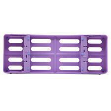 New Dental Plastic Sterilization Rack Sterilization Box Cassette File Burs Tray