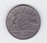 1940 War time Australia Two Shilling  Florin COIN made with Lead history D-488
