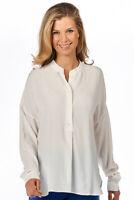 -0039- Italy - Alisa Damen Bluse Seide leger elegant weiß Neu: 199 €