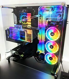 Custom Loop Water Cooled PC RTX 2080 Super 32gb Ram AMD CPU