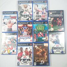 Playstation 2 ps2 Spielepaket - 10 Spiele-Sport Genre