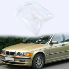 For 4 Door 1998-2002 BMW E46 Left & Right Headlight Lens Clear Cover Set-2pc NEW