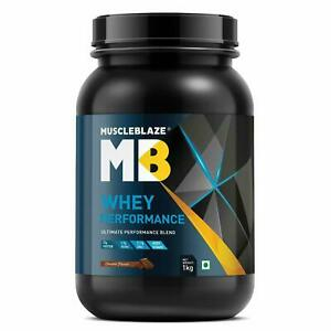 MuscleBlaze MB Whey Protein Chocolate Flavor Ultimate Performance Blend 1 Kg