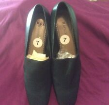 Naturalizer Inspector Black Fabric Leather Loafers Pumps Shoes Size 7M