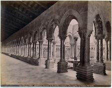 Monreale Palermo Chiostro Soffittoligneo Foto originale albumina Brogi 1890 L826