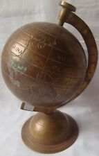Earth globe copper world rotating ocean geography desktop home table stand decor