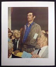 """Norman Rockwell """"Freedom of Speech"""" Vintage Collotype Art Print '72, Make Offer!"""