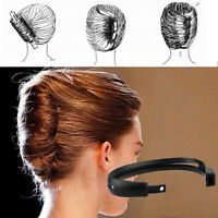 2pcs/set Women Hair Styling Updo Donut Bun Clip Tool French Twist Maker Holder