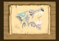 Howling Wolf, Stencil 350 micron Mylar not thin stuff #Wolf02
