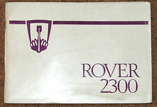ROVER 2300 SD1 Owners Manual Handbook 1977 in Excellent Condition