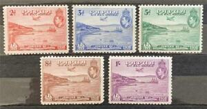 Papua. Air Mail Stamp Set. P. 11. SG158/62. 1938. (6 Sept). Unused. #TS04.
