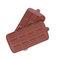 1 X Chocolate Mold Mould Bar Break Apart Choc Block Ice Silicone Cake Bake Mold