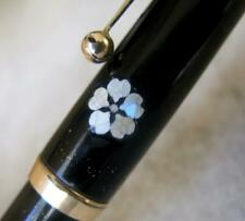 DUNHILL NAMIKI - VINTAGE SCARCE MOTHER OF PEARL FLOWERS PATTERN FOUNTAIN PEN